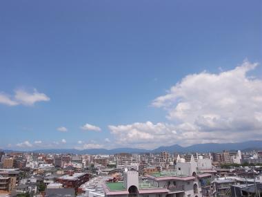 マンションバルコニーからの眺望