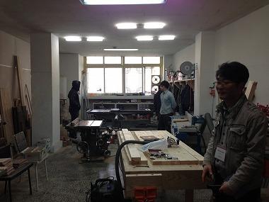プサン中央洞エリアでアーティストに無償提供されている木工工房