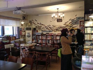 プサン中央洞エリアの文学カフェ