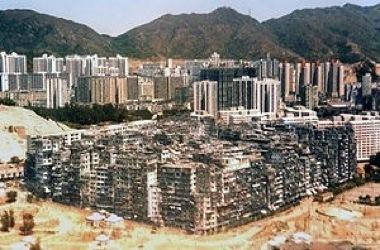 $世界最狂のスラム「九龍城砦」全景写真